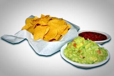 Homeade Chips with Salsa and Guacamole